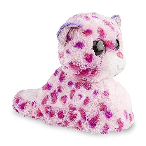 TY Beanie Boo Kitty Toddler Girl's Glamour Leopard Pink Plush Slipper (10/11 Medium US Little - Babies Ty Beanie Fleece
