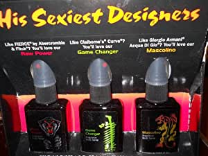 His Sexiest Designers 3-Piece 1.5-oz Fragrance Body Spray for Men Gift Set (Mascolino, Rule, Smokin Hot)