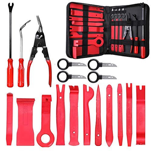 MATCC Car Panel Removal Tools Kit 18pcs Trim Removal Tool Set Nylon for Car Panel Dash Audio Radio Removal Installer and Repair Pry Tool Kits with Storage Bag