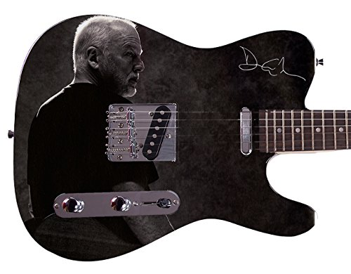 Pink Floyd David Gilmour Autographed Signed Custom Graphics Guitar