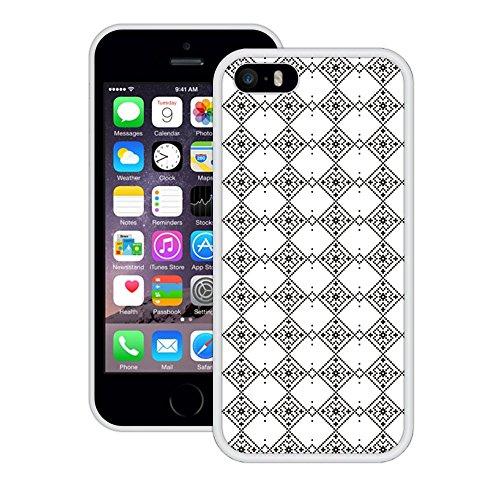 Weihnachten Quadrate Muster | Handgefertigt | iPhone 5 5s SE | Weiß TPU Hülle