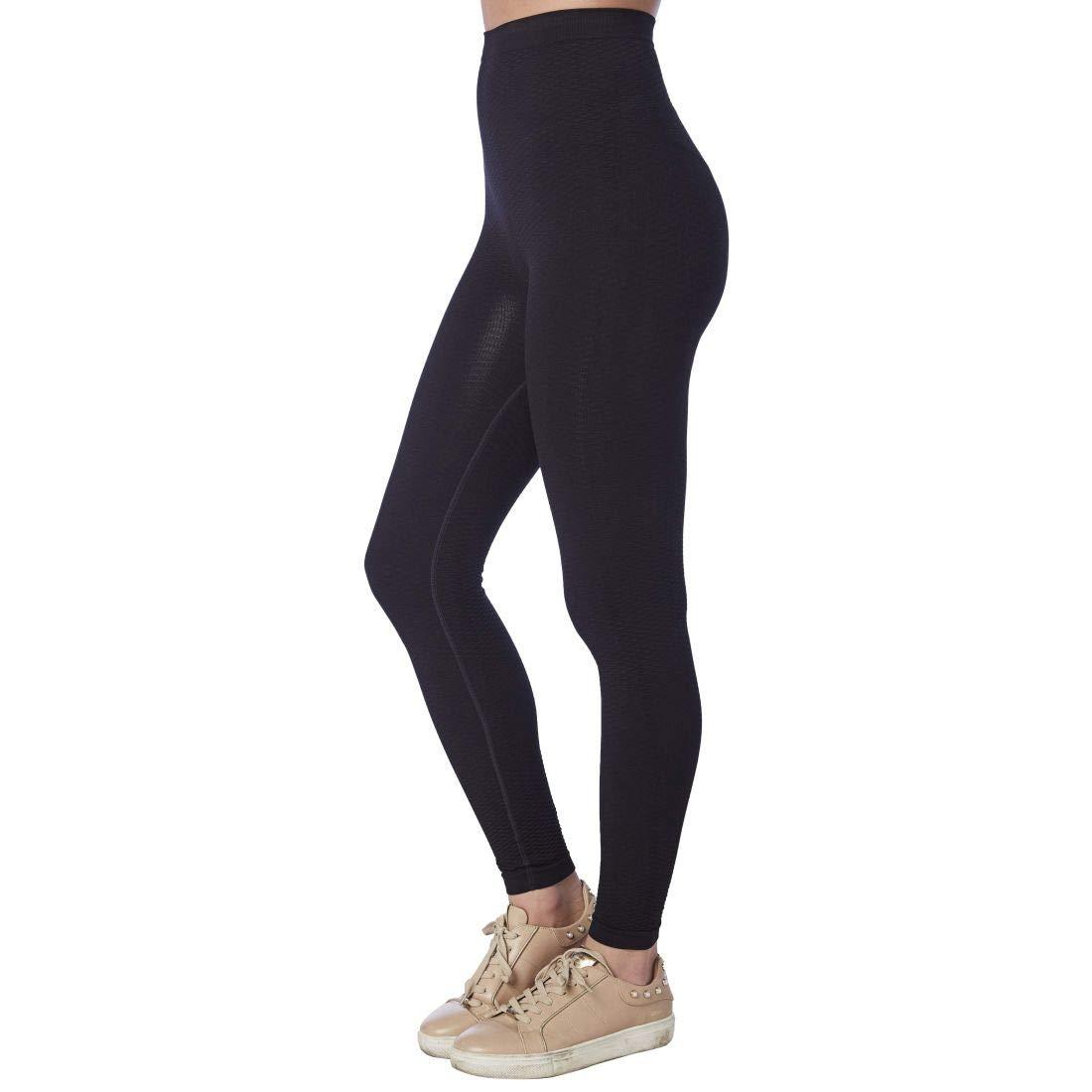 CzSalus Summer time Lipedema, Lymphedema Support Slimming Lighter Weight Medium Compression Leggings (XXL, Black) by CzSalus
