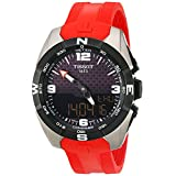 Tissot T-Touch Expert Solar Black Dial Red Silicon Band Mens Quartz WatchT0914204705700