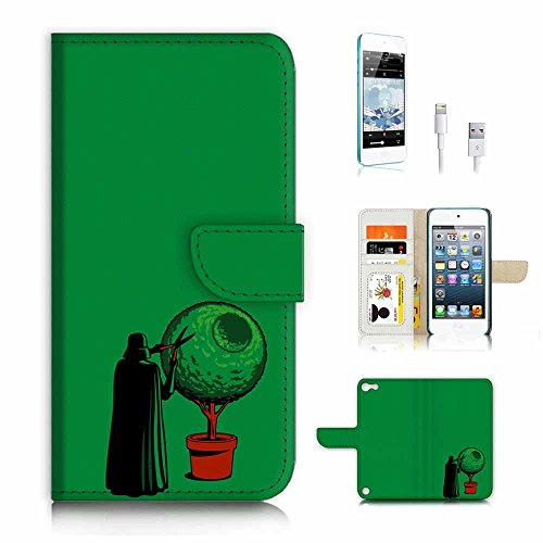 ( For ipod 5, itouch 5, touch 5 ) Flip Wallet Case Cover & Screen Protector & Charging Cable Bundle! A3223 (Itouch Flip Case)