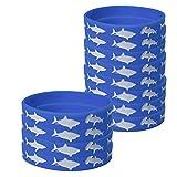 Blue Orchards Shark Kids' Wristbands (12), Shark Party Supplies, Kids' Wearables, Birthday Favors