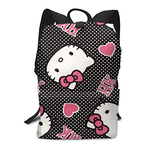 Adult Travel Laptop Backpack - Cute Hello Kitty Business Or College School Computer Bag for Women & Men Fits Laptop and Notebook -