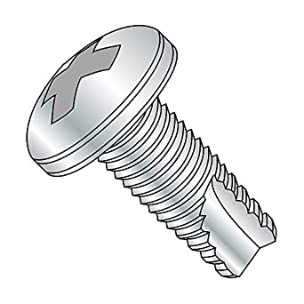 Phillips Drive Type 23 Pack of 100 3//8 Length Black Zinc Plated Steel Thread Cutting Screw #10-32 Thread Size Pan Head