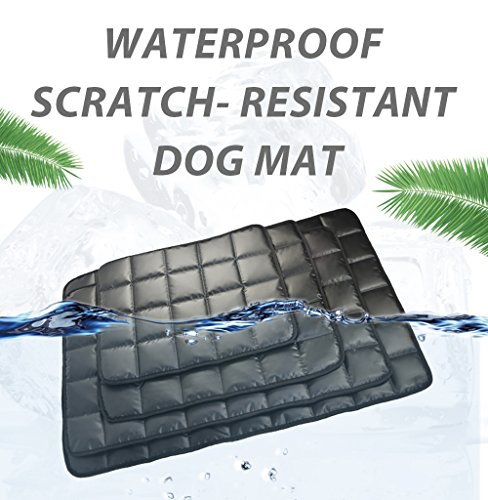furrybaby indestructible Oxford Fabric Waterproof Dog Mat Non Slip High-Density Pet Bed Cushion Mat Outdoors Travel for Dog and Cats 24''x37'' Black by furrybaby
