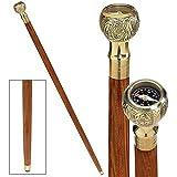 Design Toscano Collectible Authentic Compass Gentleman's Walking Stick