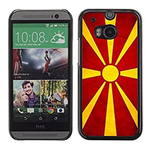 Shell-Star ( National Flag Series-Macedonian ) Snap On Hard Protective Case For All New HTC One (M8)