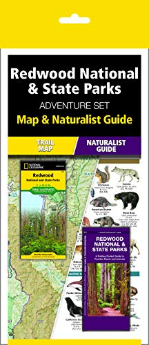 Redwood National & State Parks Adventure Set: Trail Map & Wildlife Guide