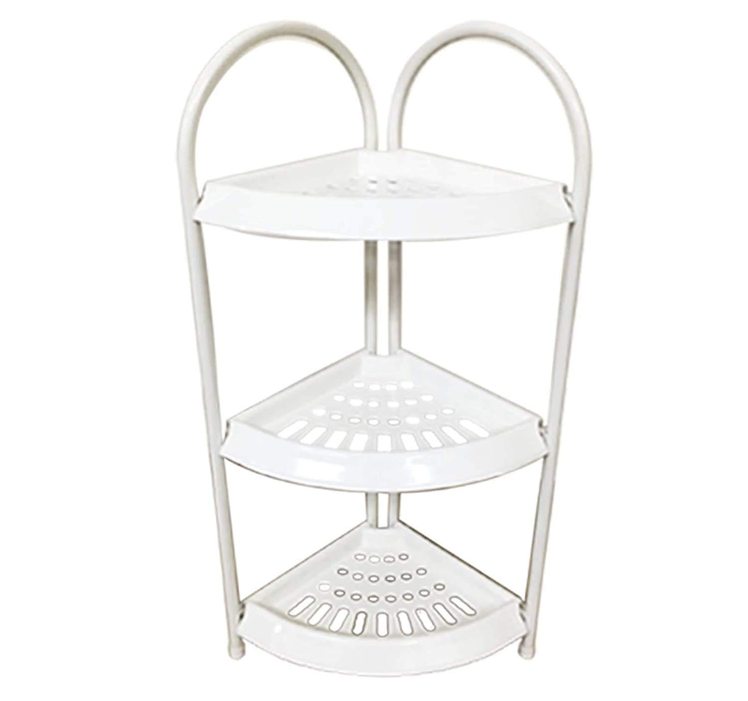 3 TIER Shower Caddy Corner Rust Proof White Shelf Kitchen Bathroom Storage Unit - Heavy Duty, Easy Fitting (3 Tier) Bathroom Item