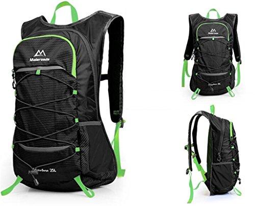 Estate borsa nuova spalla borsa da viaggio impermeabile esterna trekking zaino uomini e donne 25L all'aperto ( colore : Nero , dimensioni : 25L )