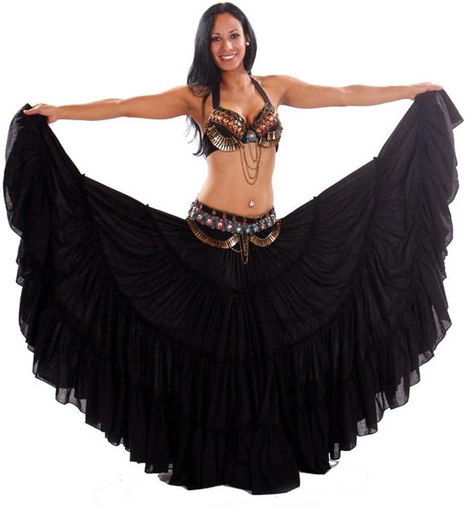 Miss Belly Dance Traje de sujetador y falda tribal danza del ...