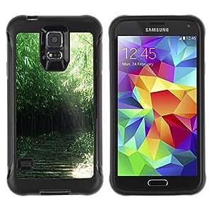 LASTONE PHONE CASE / Suave Silicona Caso Carcasa de Caucho Funda para Samsung Galaxy S5 SM-G900 / Nature Green Forrest
