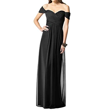 H.S.D Womens Sheath Sweetheart Off Shoulder Long Bridesmaid Dress Prom Gown