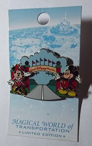 Magical World of Transportaion - pin pursuit - Mickey and Minnie at Disney Entrance Sign, Completer Pin, LE 3000. Pin Pic # 45685