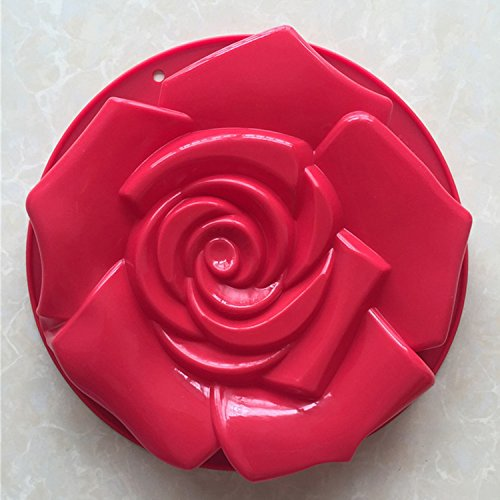 Danish Crown Princess (Silicone Cake Bundt Pan Rose Flower Shaped Bakeware Muff Mould Shape Bread Pastry Mold Tray Baking)