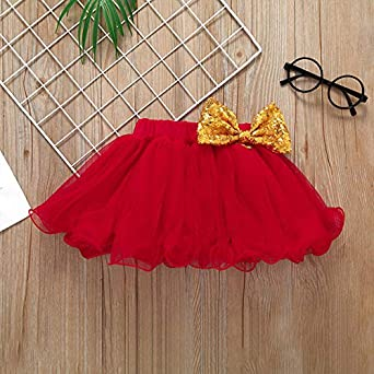 Newborn Baby Girls Valentine Romper Bowknot Tulle Skirt Headband Outfit 3Pcs Set