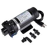 BOKYWOX 110V Diaphragm Pump 160PSI 5.5L/min Self Priming Water Pump for Caravan/Boat/Marine(DP-160S)