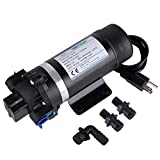 BOKYWOX 110V Self Priming Water Pressure Pump 160PSI 5.5L/min Diaphragm Pump for Caravan/Boat/Marine(DP-160S)