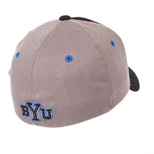 NCAA Zephyr Wake Forest Demon Deacons Mens Grid Hat Gray//Team Color X-Large