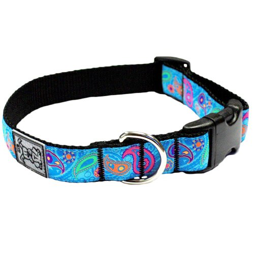 Adjustable Dog Clip Collar - RC Pet Products 1-Inch Adjustable Dog Clip Collar, 12 by 20-Inch, Medium, Tropical Paisley