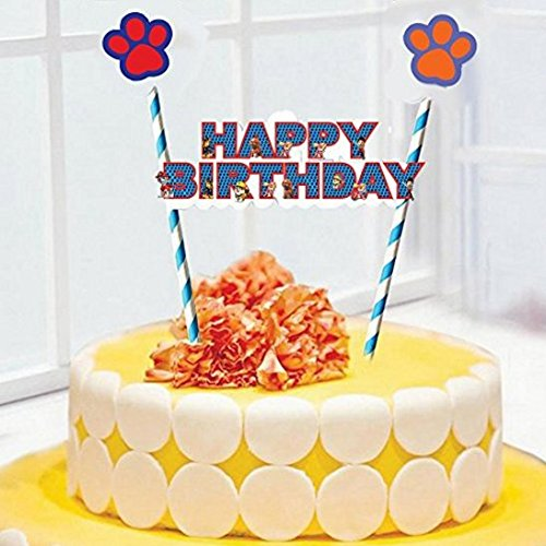 Party Propz Paw Patrol Theme Happy Birthday Cake Topper Amazonin Toys Games