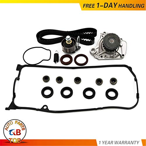 Timing Belt Water Pump Kit & Valve Cover Gasket for 2001-2005 Honda Civic GX DX LX VP EX HX 1.7L D17A1 D17A2 D17A6 D17A7 L4 SOHC 16V