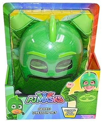 PJ Masks Gekko Deluxe Dress Up Top & Mask (Green)