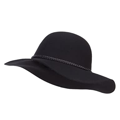 Jeanne Simmons Women s 3 Inch Wide Brim Wool Felt Hat - Black OSFM ... c179c4cc648