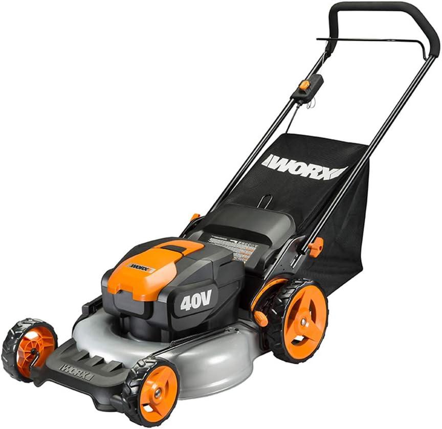 WORX WG960 20-inch 40V(5.0Ah) WG751 Cordless Lawn Mower