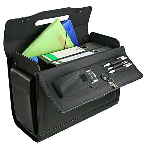 D & N Leder Pilotenkoffer Aktenkoffer Laptop Business Bag Koffer 45x35x21cm Schwarz 2687 Bowatex
