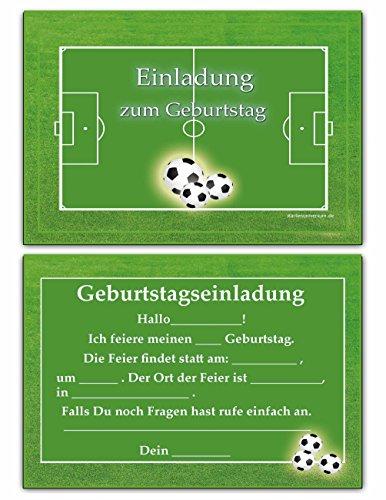Einladungskarten Kindergeburtstag Fussball Junge Kinder Geburtstag  Einladungen Geburtstagseinladungen: Amazon.de: Bürobedarf U0026 Schreibwaren