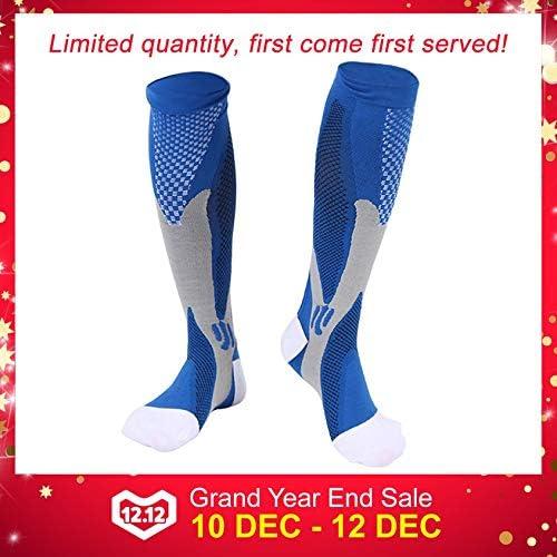 Leoboone Comfortable Unisex Men Women Leg Support Stretch Magic Compression Socks Sports Running Football Different Size
