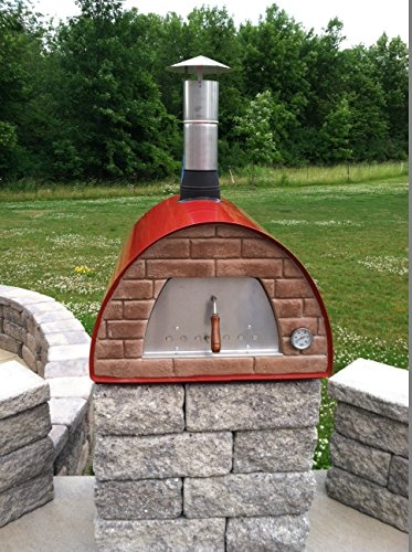 """Mobile / Portable Wood Fired Pizza Oven """"Maximus"""" (red)"""