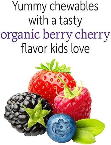 51D5pwji2%2BL. AC - Garden Of Life Dr. Formulated Probiotics Organic Kids+ Plus Vitamin C & D - Berry Cherry - Gluten, Dairy & Soy Free Immune & Digestive Health Supplement, No Added Sugar, 30 Chewables (Shelf Stable)