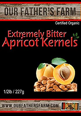 Extremely Bitter Raw Organic Apricot Seeds 1/2 Lb - 227 Grams from Our Father's Farm