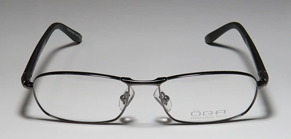Oga By Morel 7020O Mens Designer Full-rim Flexible Hinges Modern European Fashion Accessory Eyeglasses//Glasses 55-17-140, Gunmetal//Silver
