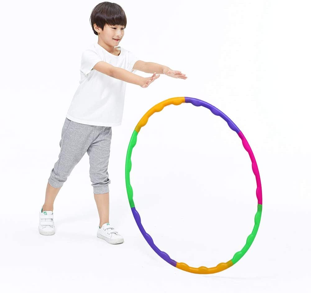 Women Adults /& Kids PVC Tube Lightweight Hoola Hoops Ring for Weight Loss Workout Stripy Multi Colored Fitness Gymnastics Gym Exercise Equipment Dancing JD Linens Hula Hoop Ideal for Men