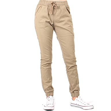 af8e5f601 Red Fox Women s Twill Jogger Pants at Amazon Women s Clothing store