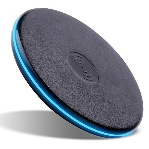Qi Wireless Charger Pad for All Qi enabled Phone and Smartphone: iPhone 8, 8 Plus, iPhone X/LG V30, G6, Charger for Samsung Galaxy S8, S8+, S7/S7 edge/S6 edge+, and Note 8, Black by Foster Gadgets