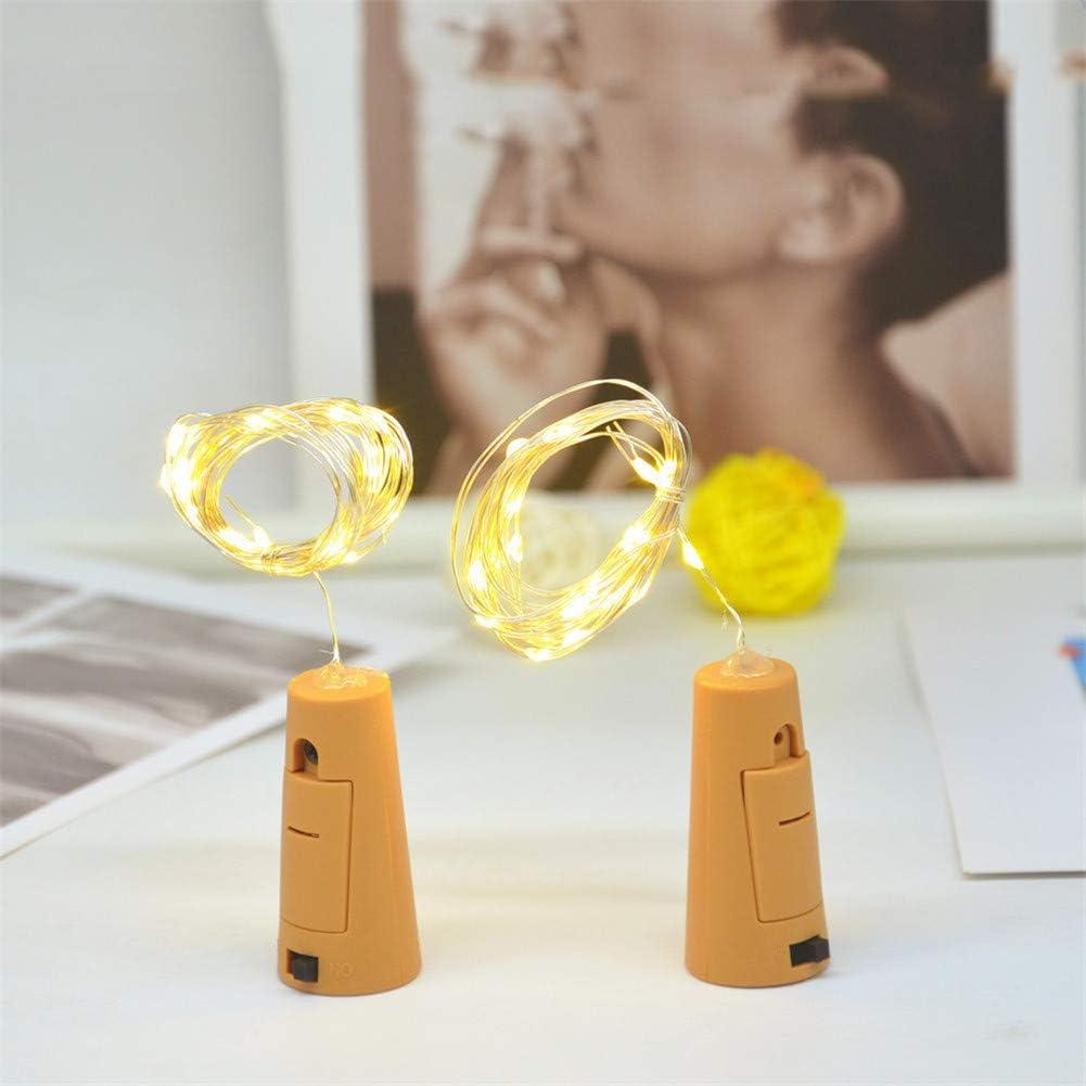 LED luz de Botella Botellas de Vino Luces Alambre de Cobre Plástico Fresca Pequeña La Decoración de Navidad Cumpleaños Boda,*2