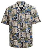 Hawaiian Shirts for Men Short Sleeve Regular Fit Mens Floral Shirts (YH1901,XXL)