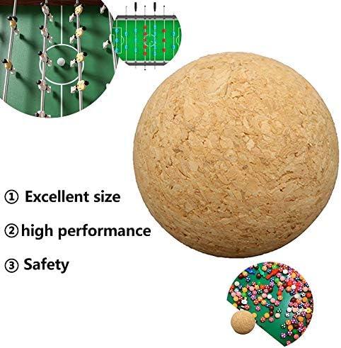 Hehilark 36 mm Corcho de Madera Maciza Mesa de fútbol balón de ...