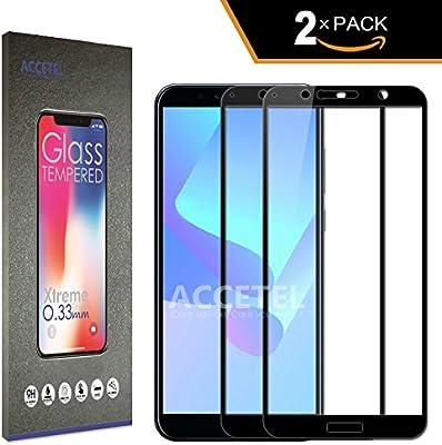 Accetel Protector de Pantalla Cobertura Completa para Huawei Y6 ...
