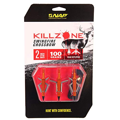New Archery Products Crossbow Broadheads, Killzone Swingfire, 100 Grains, Package Of 3