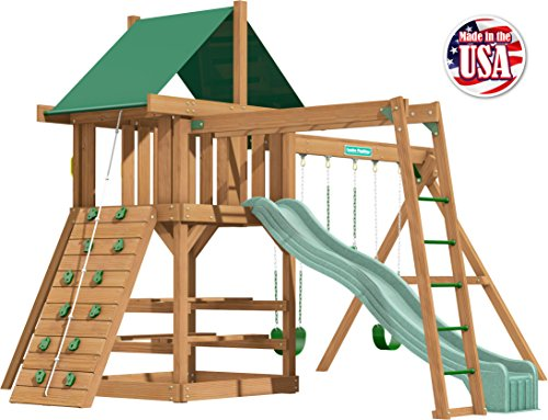 Creative Playthings (Classic Series) Clayton Pack 2 Swing Set Made in The USA (Creative Playthings Swing Sets)