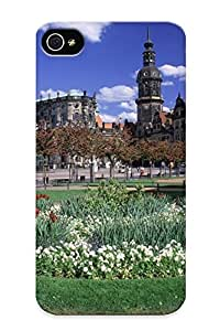 For Trinalgrate Iphone Protective Case, High Quality For Iphone 4/4s Theaterplatz, Dresden, Germany Skin Case Cover