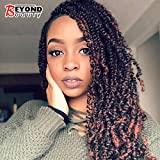3 Pack Spring Twist Ombre Colors Crochet Braids Synthetic Braiding Hair Extensions Low Temperature Fiber (T1B 350)